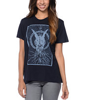 Obey Ghost Skull Charcoal After Hours Tee Shirt