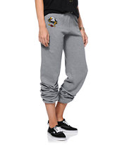 Obey Girls Aguila Heather Grey Sweatpants