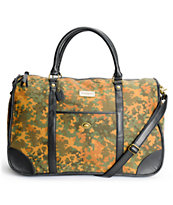 Obey Girls Berlin Camo Print Duffle Bag