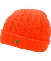 Obey Girls Blizzard Orange Fold Beanie