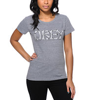 Obey Girls Brigade Grey Tri-Blend Tee Shirt