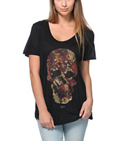 Obey Girls Cavalera Black Beau Tee Shirt