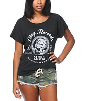 Obey Girls Conquer Babylon Black Dolman Tee Shirt