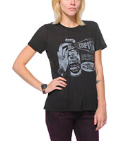 Obey Girls Coup D'Etat Black Back Alley Tee Shirt