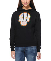 Obey Girls Day Of The Dead Color Black Pullover Hoodie