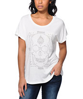 Obey Girls Death Hallucinations Natural Modern Dolman Tee Shirt