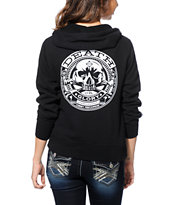 Obey Girls Death Or Glory Black Zip Up Hoodie