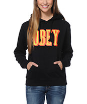 Obey Girls Easy Living Black Pullover Hoodie