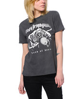 Obey Girls Hand Of Doom Charcoal Vintage Tee Shirt