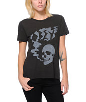 Obey Girls Last Breath Black Back Alley Tee Shirt