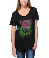 Obey Girls Let Them Bleed Black Beau Tee Shirt