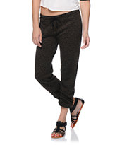 Obey Girls Lola Olive Brown Leopard Print Sweatpants