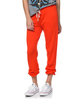 Obey Girls Lola Orange Sweatpants
