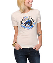 Obey Girls Panther Militia Natural White Runaway Tee Shirt