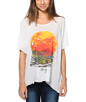 Obey Girls Rising Red Sun Natural Harmony Top