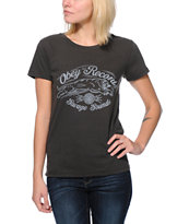 Obey Girls Savage Sounds Black Tri-Blend Tee Shirt
