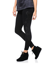 Obey Girls Secrets Black Printed Leggings