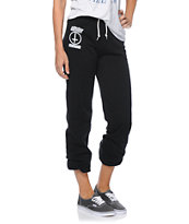 Obey Girls Speak Of The Devil Black Sweatpants