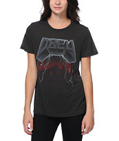 Obey Girls Stone Black Back Alley Tee Shirt