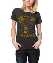 Obey Girls The Obey Room Charcoal Tri-Blend Tee Shirt