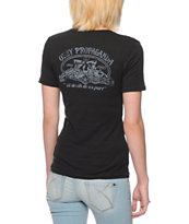 Obey Girls Til Death Black Runaway Tee Shirt