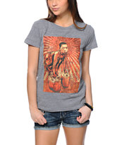 Obey Girls Uganda Children Grey Tri-Blend T-Shirt