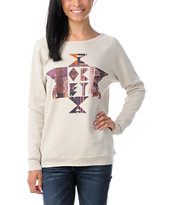 Obey Girls United Geo Vandal Crew Neck Sweatshirt