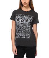 Obey Girls We Haunt The Streets Black Tee Shirt