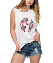 Obey Glitch Gardens Mint Muscle Tee