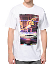 Obey Glitch White Tee Shirt