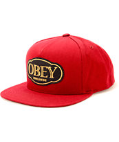 Obey Global Snapback Hat