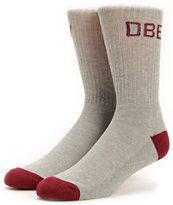 Obey Goal Line Grey & Plum Crew Socks