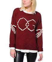 Obey Got Cha Burgundy Sweater