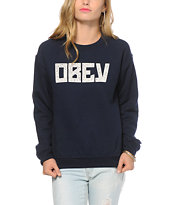 Obey Gothic Lace Crew Neck Sweatshirt