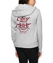 Obey Griffin Script Zip Up Hoodie
