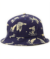 Obey Gulls Navy Bucket Hat