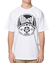 Obey HI-FI Label White Tee Shirt