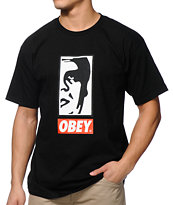 Obey Half Face Black Tee Shirt