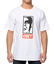Obey Half Face White Tee Shirt