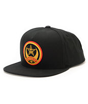 Obey Half Moon Black Snapback Hat