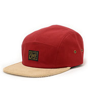 Obey Halifax Rust & Khaki 5 Panel Hat