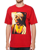 Obey Harmony 11 Red Tee Shirt