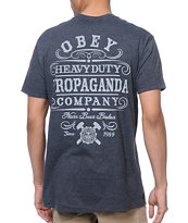 Obey Heavy Duty Propaganda Charcoal Tee Shirt