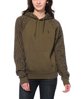 Obey Highland Army & Leopard Print Pullover Hoodie