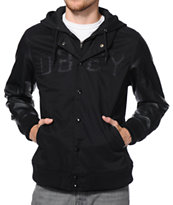 Obey Home Field Black Varsity Hooded Jacket
