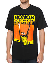 Obey Honor The Treaties Black Tee Shirt