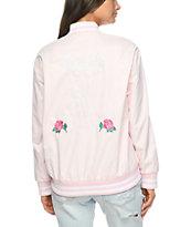 Obey Hooligans Varsity Pink Bomber Jacket