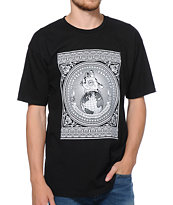 Obey Hostile Take Over Black Tee Shirt