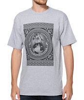 Obey Hostile Take Over Heather Grey Tee Shirt