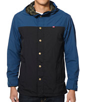 Obey Hunter Blue & Black Reversible Hooded Jacket